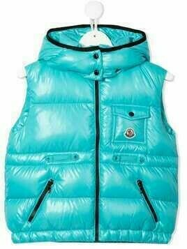 Moncler Enfant zip-up padded gilet - Blue