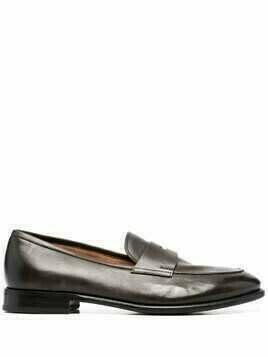 Silvano Sassetti penny-slot leather loafers - Brown