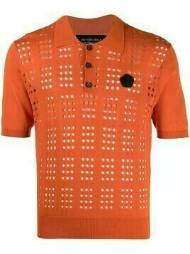 Viktor & Rolf open-knit polo shirt - Orange