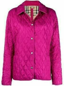 Burberry Pre-Owned diamond-quilted jacket - Pink