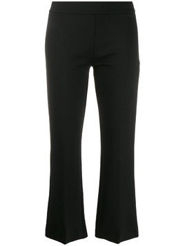 Blanca kick flared cropped trousers - Black