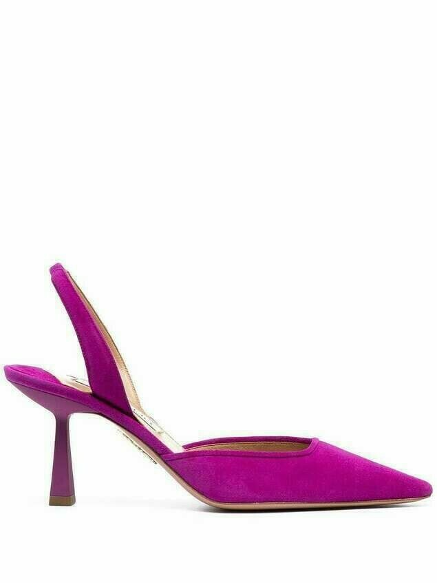 Aquazzura Maia 75mm slingback pumps - PURPLE
