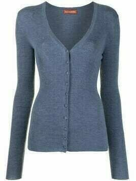 Altuzarra Elodie ribbed-knit cardigan - Blue