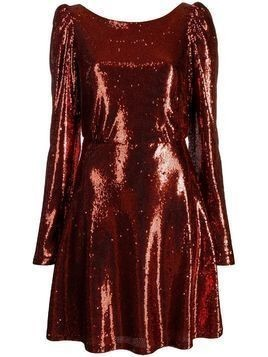 Black Coral Camila Trilly sequined dress - ORANGE