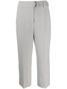 Akris Punto pleated cropped trousers - Grey