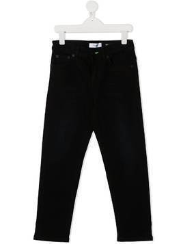Dondup Kids contrast-stitch straight-leg jeans - Black