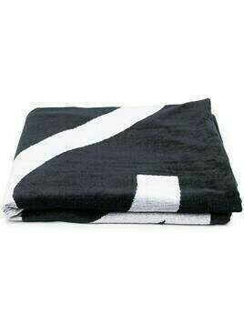 Nº21 Kids logo-print cotton towel - Black