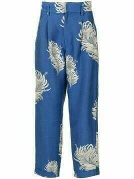 Bed J.W. Ford floral tailored trousers - Blue