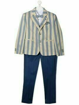 Colorichiari striped single-breasted suit - Blue