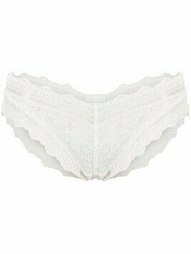 Viktor & Rolf scallop-lace regular cut briefs - White