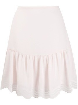 See By Chloé scalloped georgette mini skirt - PINK