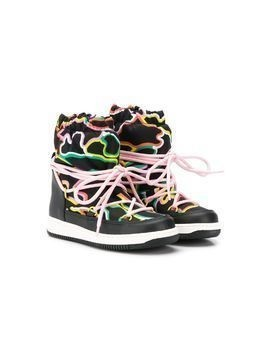 Stella McCartney Kids logo camouflage ski boots - Black