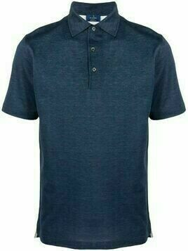 Barba spread-collar cotton polo shirt - Blue