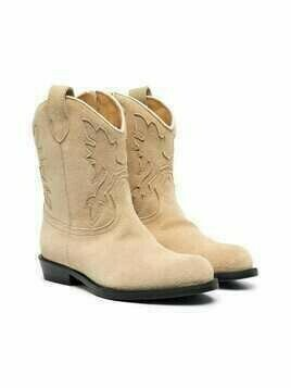 Gallucci Kids leather cowboy boots - Neutrals