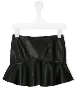 Dsquared2 Kids leather effect mini skirt - Black