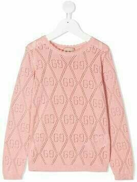 Gucci Kids GG cotton jumper - PINK