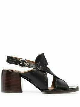 Chloé strappy leather cross-over sandals - Black