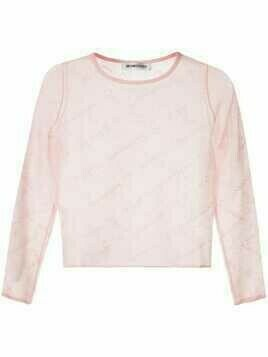 Ground Zero knitted logo top - PINK