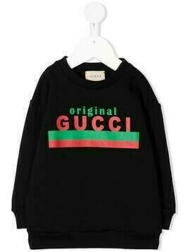 Gucci Kids Original Gucci print sweatshirt - Black