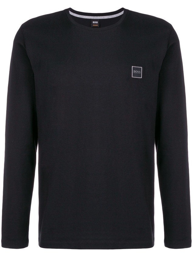 Boss Hugo Boss logo patch top - Black