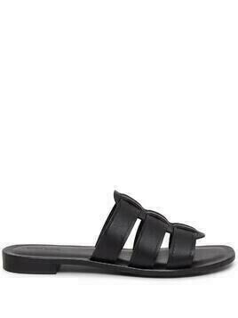 Mansur Gavriel Caprese leather slides - Black