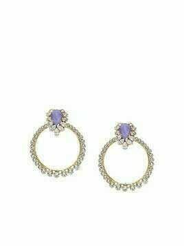 Anton Heunis Apollonia crystal-embellished hoop earrings - Gold