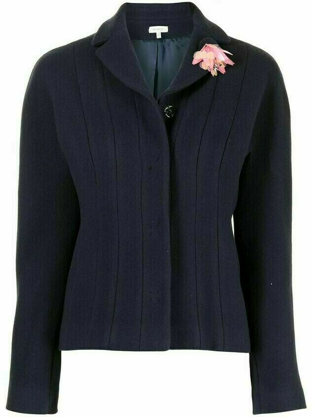 Delpozo panelled fitted jacket - Blue