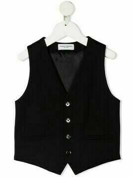 Paolo Pecora Kids V-neck single-breasted waistcoat - Black