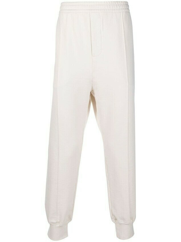 Prada straight-leg cotton trousers - White