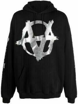 VETEMENTS Double Anarchy logo-print hoodie - Black