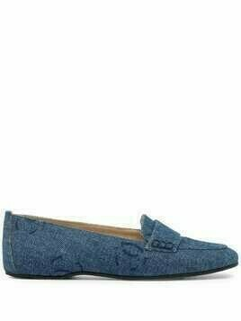 Chanel Pre-Owned 2002 CC denim loafers - Blue