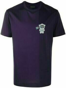 Emporio Armani Astronaut short sleeved T-shirt - PURPLE