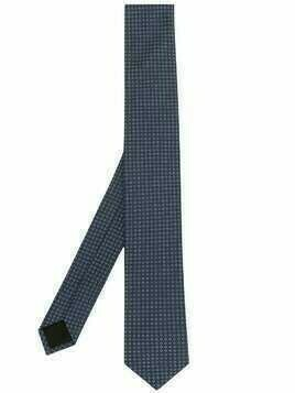 BOSS geometric print tie - Blue
