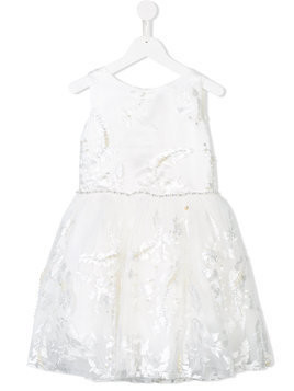 Le Mu embroidered tulle dress - White