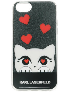Karl Lagerfeld Valentine Choupette iPhone case - Black