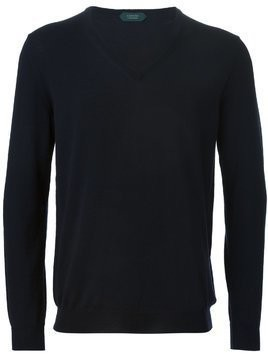 Zanone v-neck sweater - Blue