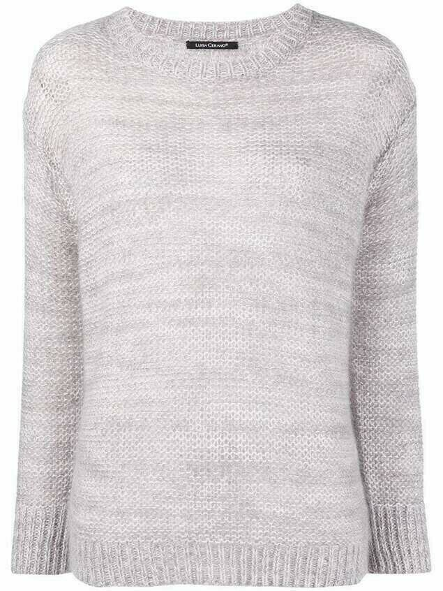 Luisa Cerano rib-trimmed crew neck jumper - Grey