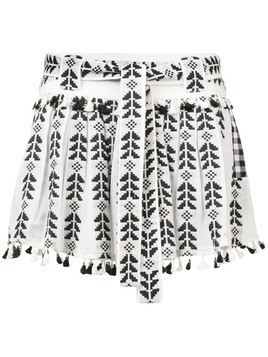 Dodo Bar Or Ariana ethnic embroidered skirt - Black