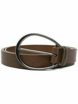 Brunello Cucinelli leather buckle belt - Brown