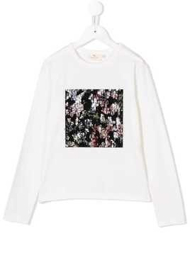 Andorine embellished long sleeve T-shirt - White