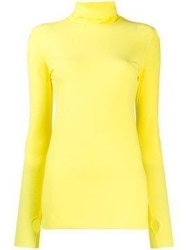 Dorothee Schumacher roll neck long sleeve top - Yellow