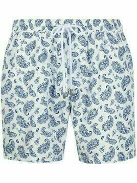 Barba paisley swim shorts - White