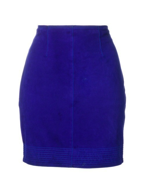 Versace Pre-Owned fitted mini skirt - Blue