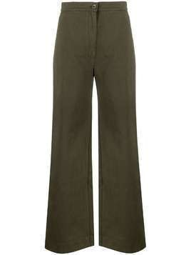 Katharine Hamnett London Anna organic cotton palazzo trousers - Green
