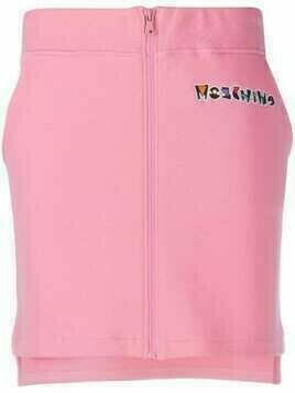 Moschino embroidered logo zip-up skirt - PINK