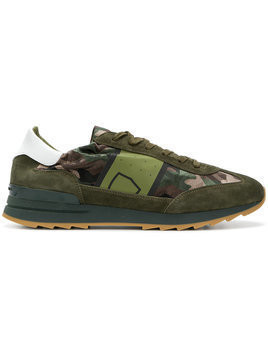 Philippe Model - camouflage print sneakers - Herren - Leather/Nylon/Polyamide/rubber - 44 - Green