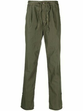 Incotex straight-leg drawstring chinos - Green