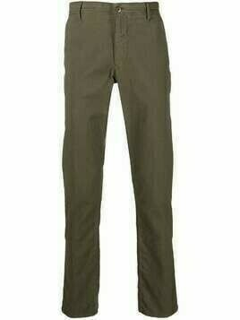 Incotex straight-leg cotton trousers - Green