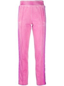 Palm Angels dye track pants - PINK