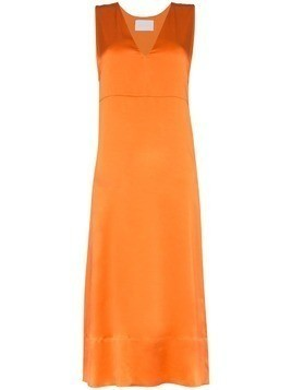 Asceno silk midi slip dress - Orange
